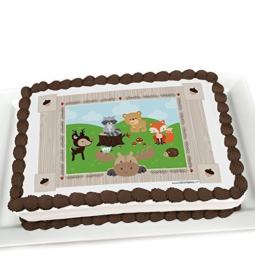 Cake Decorations Edible Photos : Woodland Birthday Party Edible Cake Decorations Birthday ...