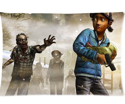 custom-clementine-the-walking-dead-season-two-pillowcases-pillow-case-cushion-cover-20-x-30-two-side