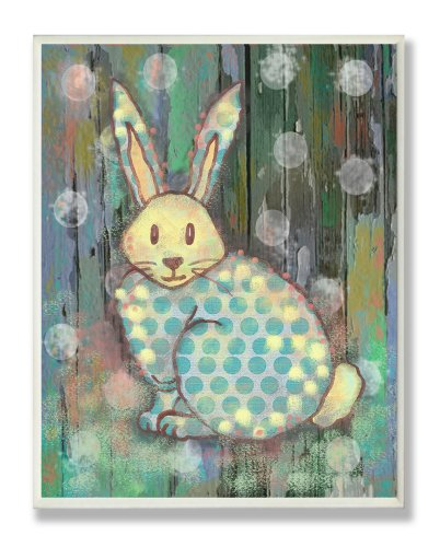 The Kids Room By Stupell Multi Color Distressed Woodland Rabbit Designer Prints And Wall Art For Kids Room