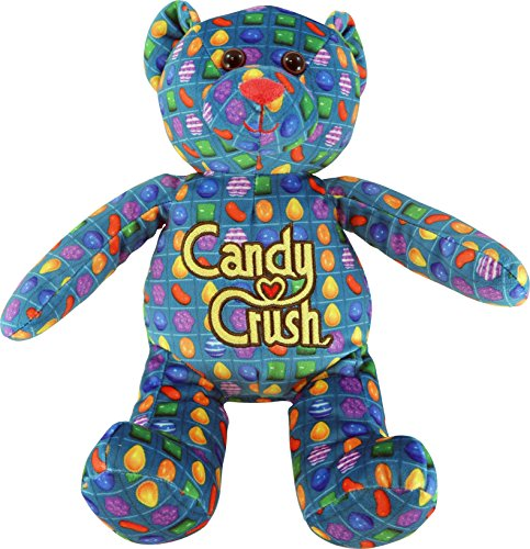 Candy Crush 12-Inch Game Pattern Printed Teddy Bear Plush - 1