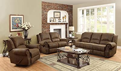 Coaster Home Furnishings 650151 Casual Motion Sofa, Brown