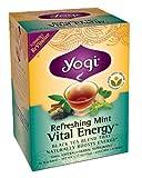 Yogi Refreshing Mint Vital Energy Tea, 16 Tea Bags (Pack of 6)