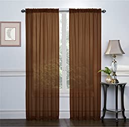 Ruthy\'s Textile 2-Pack window Curtain sheer panels Total Width 108\