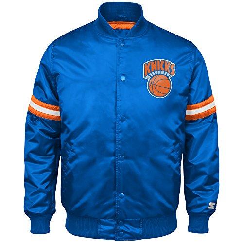 NBA New York Knicks Men's Retro Satin Full Snap Jacket, Large, Royal (Satin Starter Jacket compare prices)
