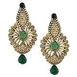 AMUKTA Gold & Green Tops Earrings