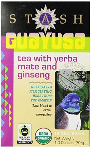 Stash Tea Guayusa Tea With Yerba Mate & Ginseng, 18 Count Tea Bags In Foil