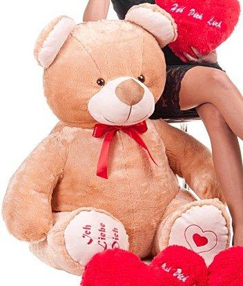 Geschenk aus Liebe Teddybär Kuschelbär hellbraun