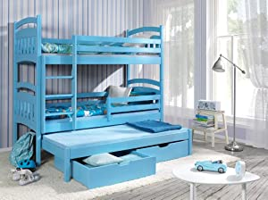 Max Triple Bunk bed made with Pine Wood (Pine, Standard)