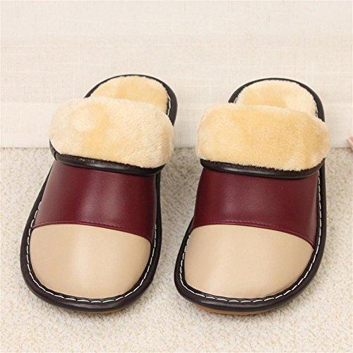 TDXIE Inverno in microfibra antiscivolo cotone caldo piano indoor pantofole Pantofole sandali di pelle 35 36 37 38 39 40 , b , 35-36