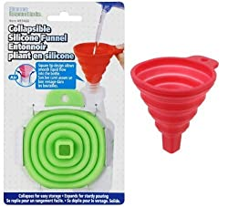 NexGen Small Collapsible Silicone Funnel Heat Resistant Helpful In Pouring Liquid with Precision