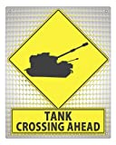 Street Sign art Call Of Duty army tank plaque / game room mancave funny retro wall decor
