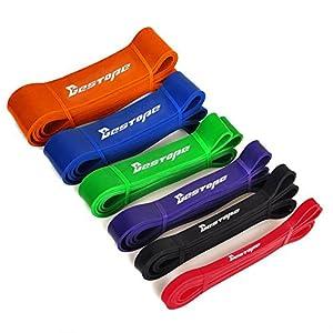 BESTOPE® Widerstand-Bänder Power Training Ausbildung Fitnessbänder Body CrossFit-band Expander Bodytrainer Tubing (Lila)