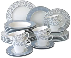 creatable avado dinner set 30 pieces kitchen home