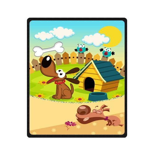 "Personalized Cute Dogs Jigsaw Blanket 50""X 60""(Medium) front-875456"