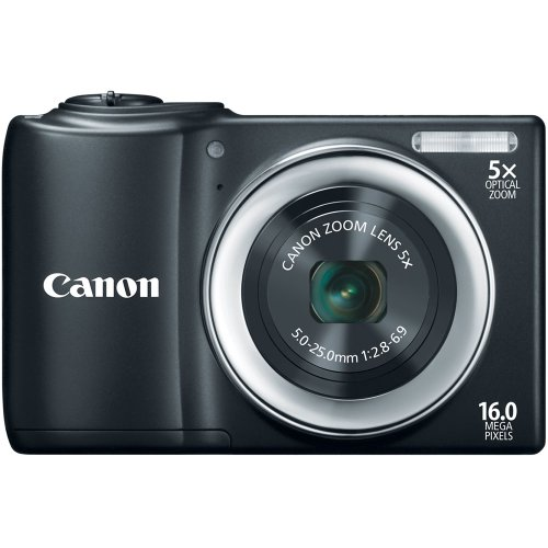 Canon 6180B005 PowerShot A810 16.0 MP Digital Camera with 5x Digital Image Stabilized Zoom 28mm Wide-Angle Lens with 720p HD Video Recording (Black)