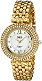 Burgi Women's BUR126YG Analog Display Swiss Quartz Gold Watch