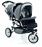Twin Pushchair Double Twin Stroller Jane Powertwin Pro R15 - Sand