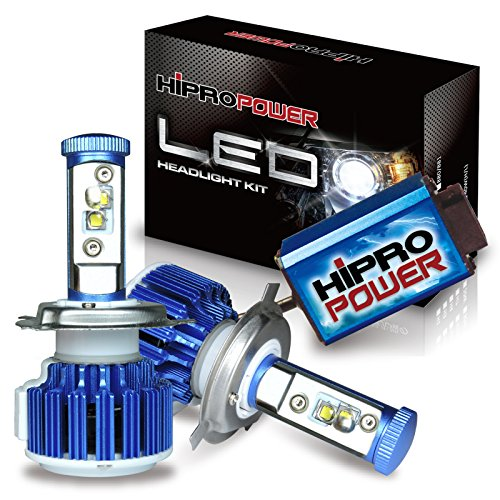Hipro Power CREE XM-L2 9007 Dual Beam LED Headlight Kit - 9007 80W 7,600LMS 6000K Diamond White For Low & High Beam- 2 Yr Warranty (Ford Ranger Led Headlights compare prices)
