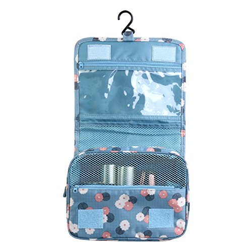 LEORX Impermeabile appeso Wash Bag Toiletry Bag Travel trousse Organizzatore (azzurro cielo)