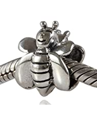 Choruslove Antique 925 Sterling Silver Smile Honey Bee Charm Bead For European Bracelet