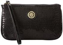 Anne Klein Present Time Medium 60291543 Wristlet,Black,One Size
