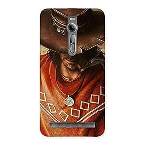 Gorgeous Cowboy Multicolor Back Case Cover for Asus Zenfone 2