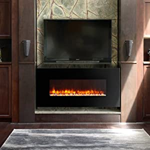 Led Wall Mount Electric Fireplace Insert Type Pebble Outdoor Fireplaces Patio