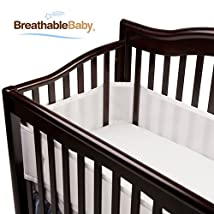 BreathableBaby Breathable Mesh Crib Liner White