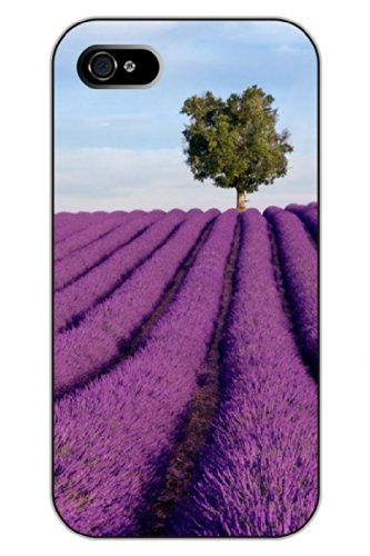 Sprawl Unique Clear Design Lavender And Trees Protective Hard Plastic Snap On Iphone 5 5S Case Flower Of Life