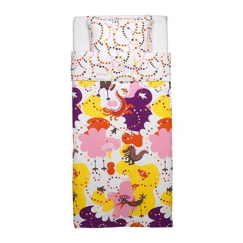 Ikea 802.345.33 Sangfagel Duvet Cover and Pillowcase, Twin, Pink cartoon tree duvet cover set
