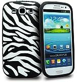Accessory Master- Blanc / Noir ' Zebra ' la conception silicone Housse pour Samsung galaxy S3 i9300