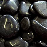 Exotic PBS1030 Polished Pebble, Black, 5 Pounds, 1/2-Inch to 1-Inch