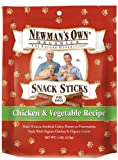 Newmans Own Organics Snack Sticks for Dogs, Chicken & Vegetable, 4-Ounce Bag (Pack of 6)