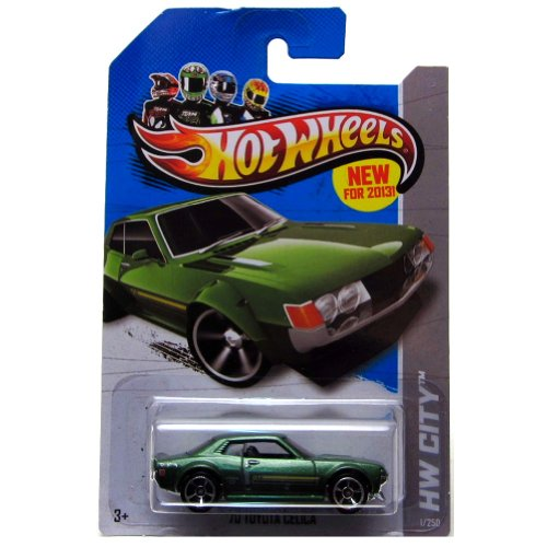2013 Hot Wheels HW City'70 Toyota Celica Green #1/250 - 1