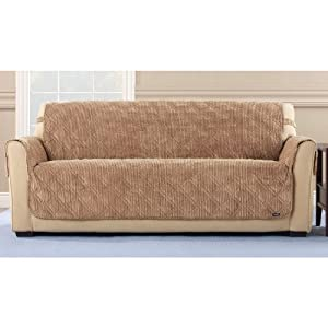 Sure Fit Quilted Corduroy Sofa Pet Cover
