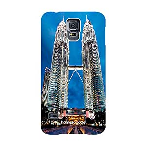HomeSoGood Petronas Twin Towers Blue 3D Mobile Case For Samsung S5 ( Back Cover)
