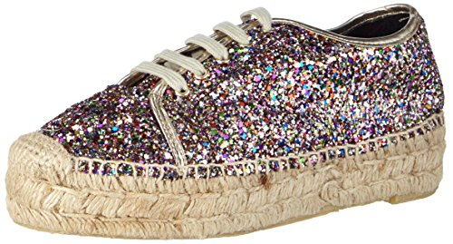 Buffalo London10701-3YU GLITTER - Espadrillas Donna , Multicolore (Mehrfarbig (MULTI 01)), 39