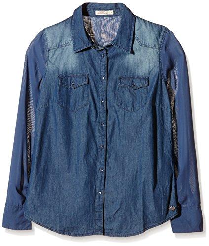 DDP F4WISG02-Camicia Donna    Blu (Dark Blue) 46