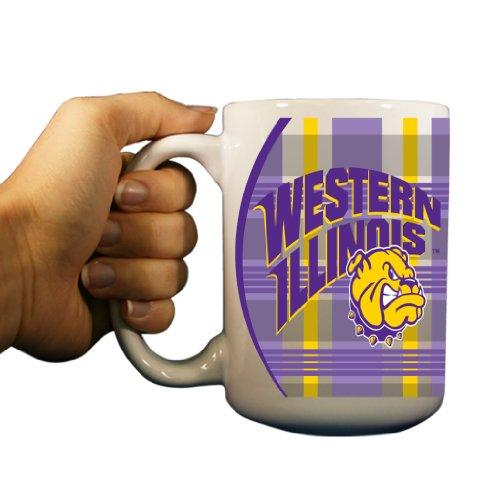 Western Illinois University - 15Oz Coffee Mug - Plaid Background