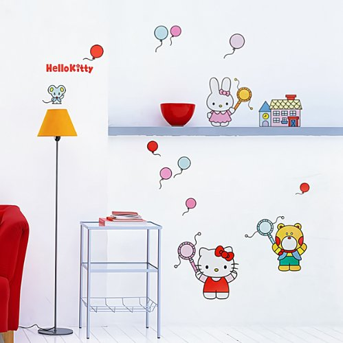Hello Kitty with Friends Nursery Wall Decoration Decal Sticker