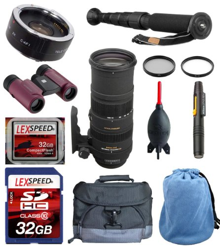 Safari And Birding Photography Deluxe Kit For Sigma 150-500Mm F/5-6.3 Af Apo Dg Os Hsm - For Nikon
