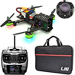 LHI FPV RTF Full Carbon Fiber 220 mm Quadcopter Race Copter Racing Drone with Radiolink AT9 Remote Controller 1000TVL Camera TS5828 FPV 5.8G 32CH 600mW Transmitter TX(Assembled)