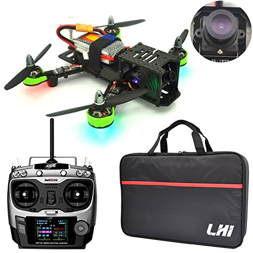 LHI FPV RTF Full Carbon Fiber 220 mm Quadcopter Race Copter Racing Drone with Radiolink AT9 Remote Controller 1000TVL Camera(Assembled)