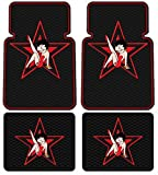 4PC Betty Boop Star Design Front and Rear Floor Mats for Car Suv Truck