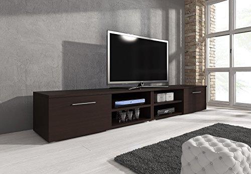 Mobile per TV, supporto TV Mobile Entertainment Vegas Rovere Scuro (Wenge), 240cm