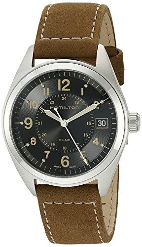 Hamilton hombre h68551833Caqui esfera analógica de cuarzo marrón reloj