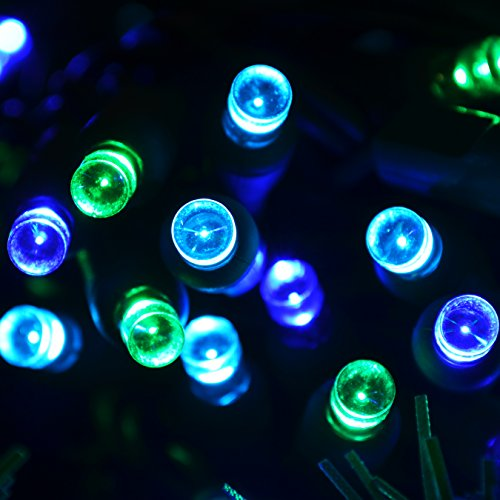 LED Mini (5mm) Blue/green/teal Outdoor Patio Tiki 70 Light Set