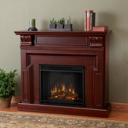 Real Flame Kristine Indoor Electric Fireplace - Mahogany photo B006NKLVY0.jpg