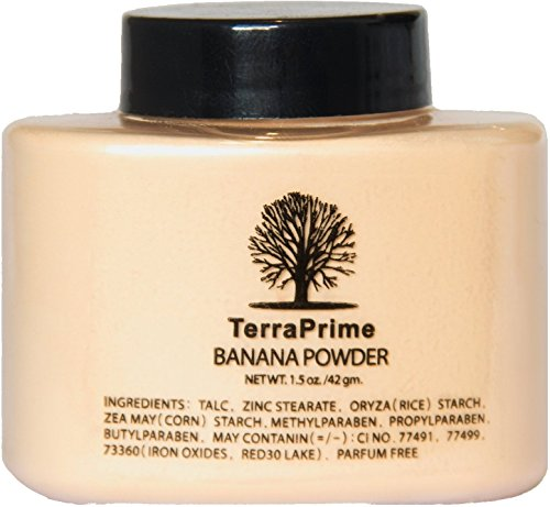 TerraPrime Banana Face Powder - Gives Celebrity Glowing Look, Camera Friendly, Suits for Majority of Skin Tones - 42g/1.5oz