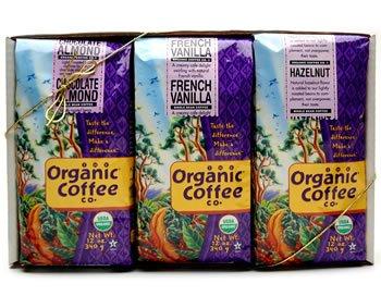 The Organic Coffee Company, Flavored Organic Coffee Sampler Gift Pack